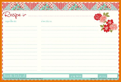 7+ free recipe templates | Itinerary Template Sample