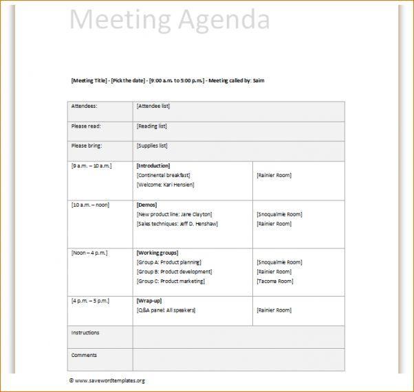 14 Meeting Itinerary TemplateAgenda Template Sample | Agenda ...