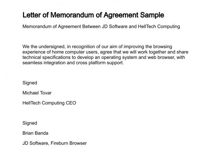 Awesome Format Agreement Between Two Parties Images - Best Resume ...
