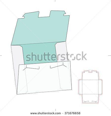 Tooth Lock Envelope Die Cut Template Stock Vector 371676658 ...