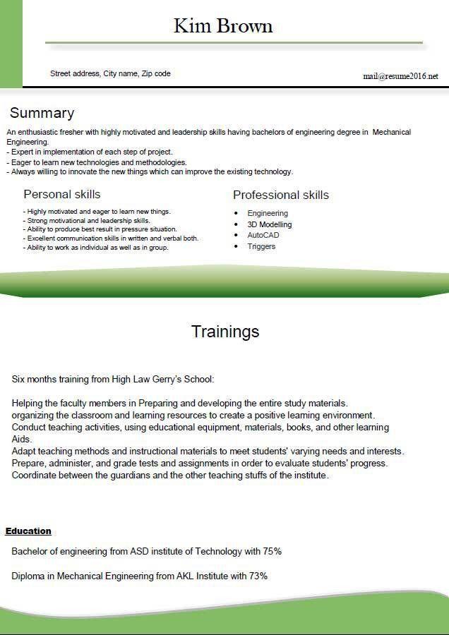 Stunning Proper Resume Format Ideas