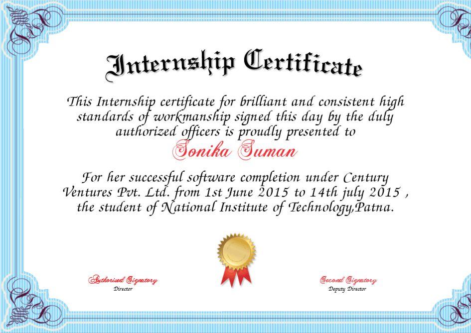 6 Internship Certificate Templates - Certificate Templates