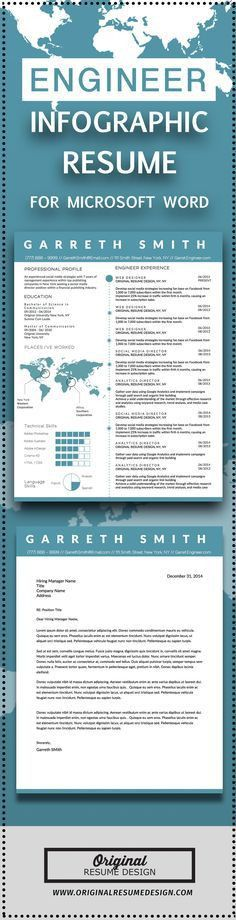 Creative Infographic Clean Business Resume Template for Microsoft ...