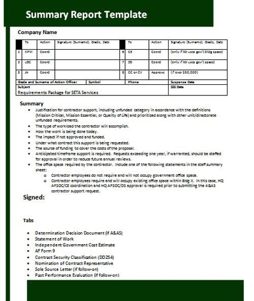 28+ Project Summary Template | Sample Executive Summary Template 8 ...