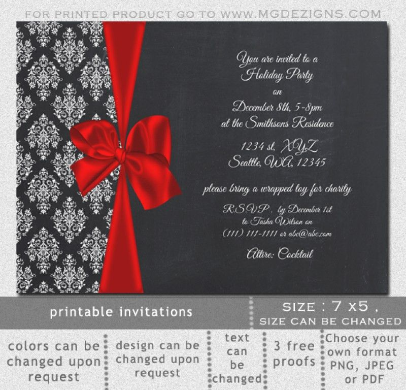 Elegant Christmas Party Invitations – frenchkitten.net