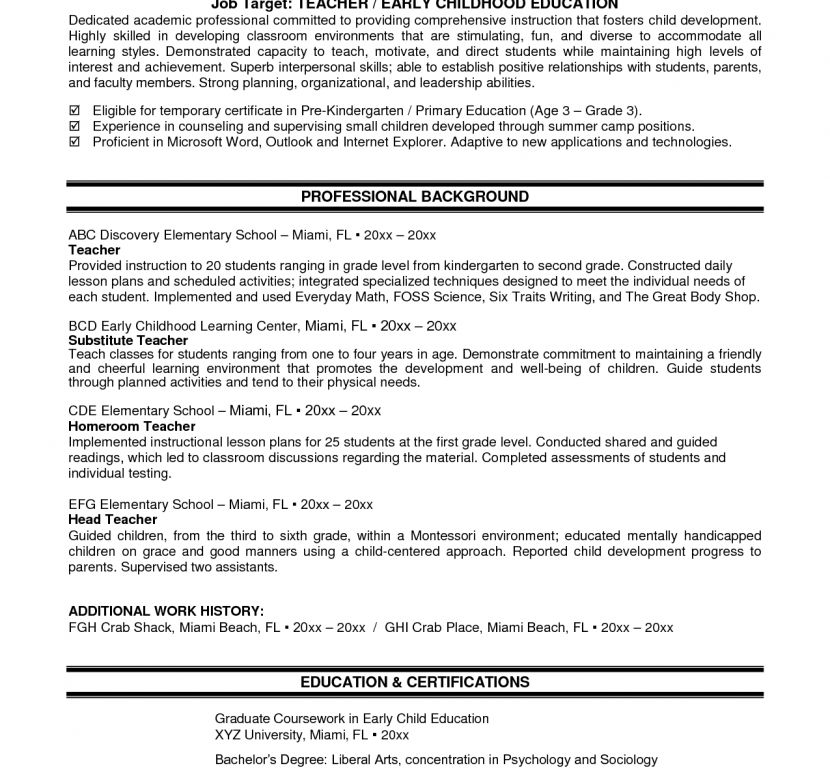 Luxury Inspiration New Teacher Resume 7 New Teacher Resume ...