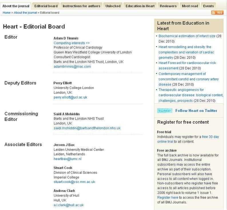 BMJ Blogs: BMJ Web Development Blog » Editorial board