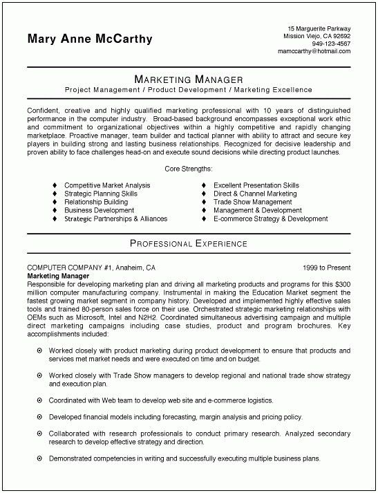 4+ marketing cv format | postal-carrier