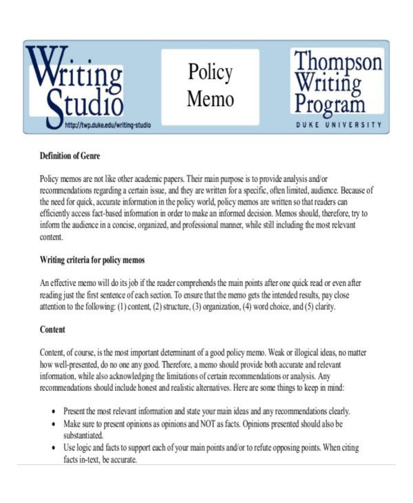 how to write a public policy paper