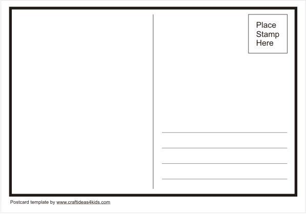 Postcard Template Word | Free Business Template