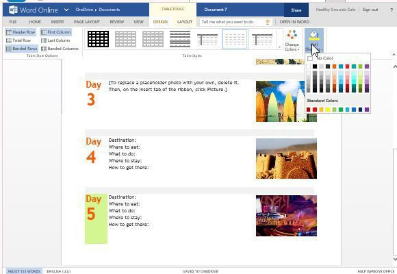 Trip Planner Template For Word Online