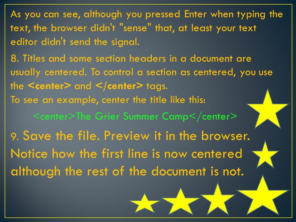TOPIC: FORMAT AND TEXT PARAGRAPH. 1.Start your text editor and ...