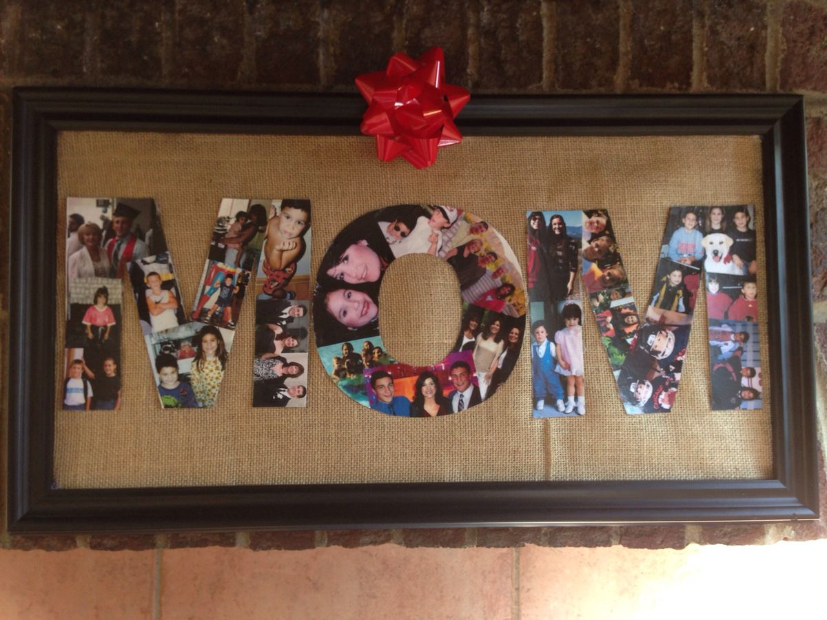 Cute idea for displaying pictures of your best friends for What to give your mom for christmas