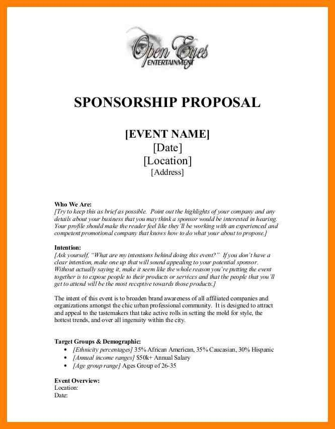 9+ sponsorship proposal example | cv for teaching