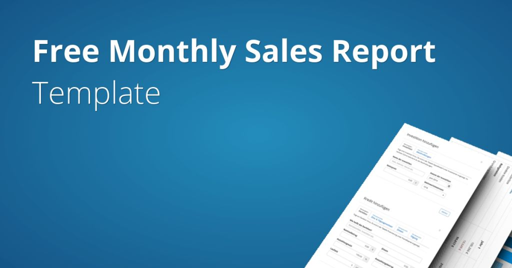 Monthly Sales Report Template | Fundivo
