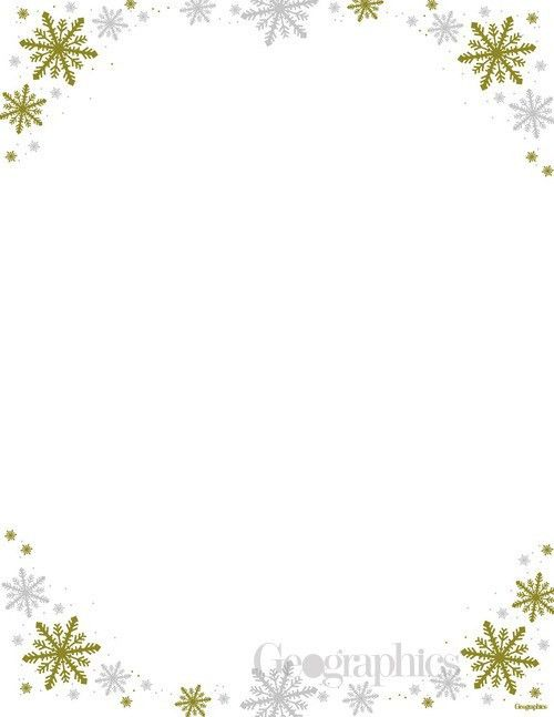 Frost Christmas Letterhead Gold and Silver Foil Stationery