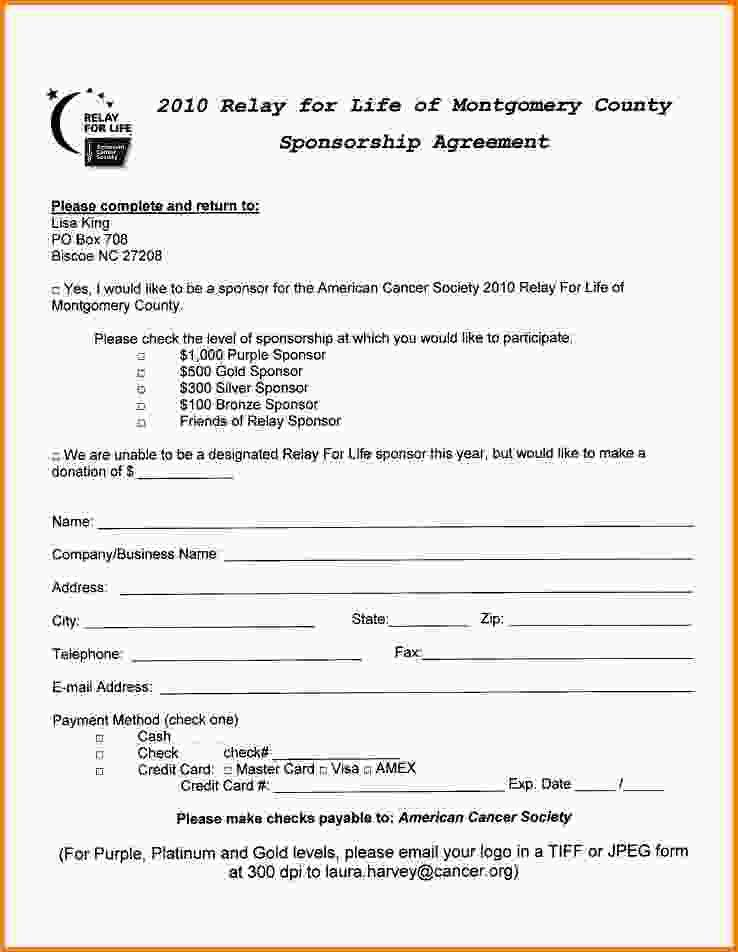 10+ sponsorship agreement | Letter Template Word