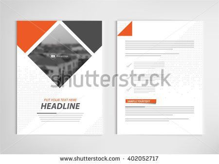 Annual Report Template Design Book Cover Stock Vector 526995976 ...