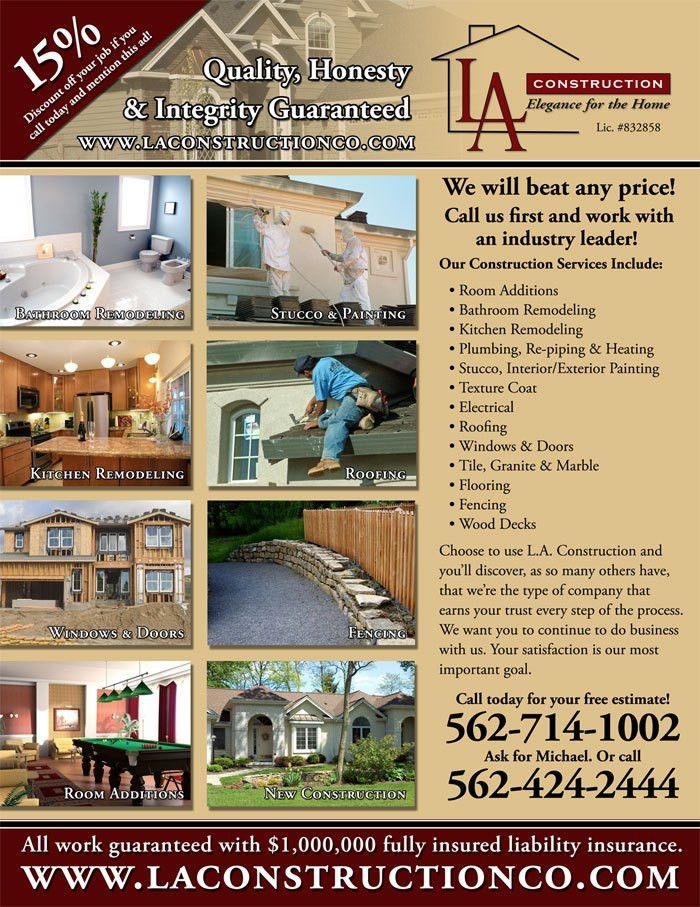L.A. Construction Flyer - Glumace Design