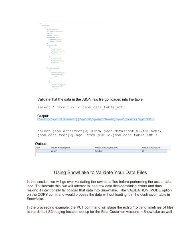 Load & Unload Data TO and FROM Snowflake (By Faysal Shaarani)