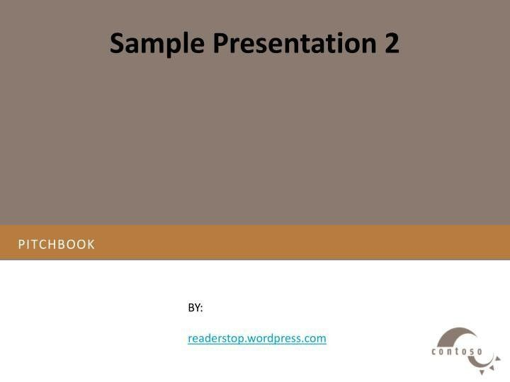 Pitch Book Template | Template Design