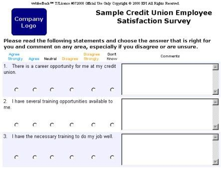 Webfeedback Sample Business and Credit Union Surveys