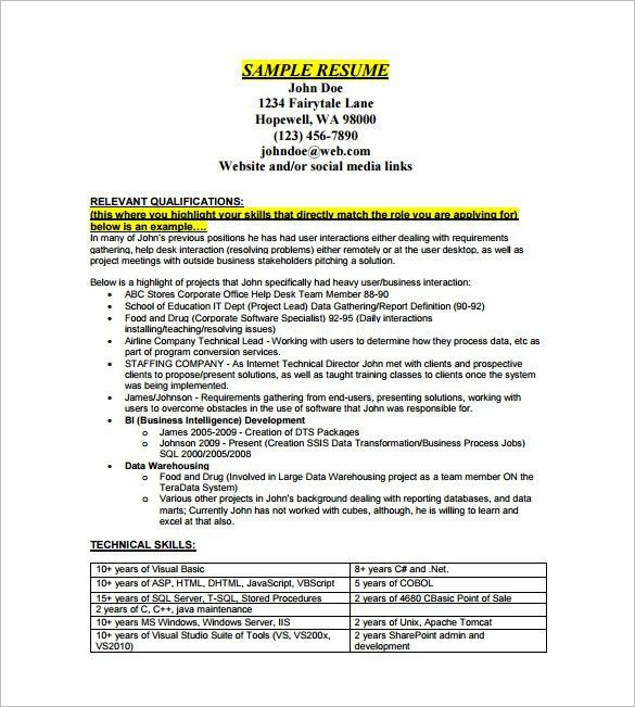 Data Analyst Resume Template – 8+ Free Word, Excel, PDF Format ...