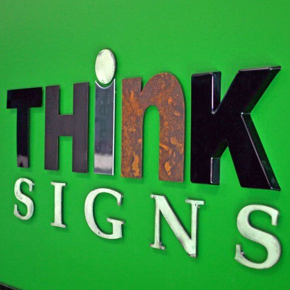 Dimensional (3-D) letters are great for outdoor signs and ...