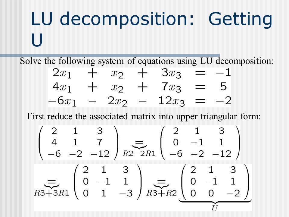 Using LU Decomposition to Optimize the modconcen.m Routine Matt ...