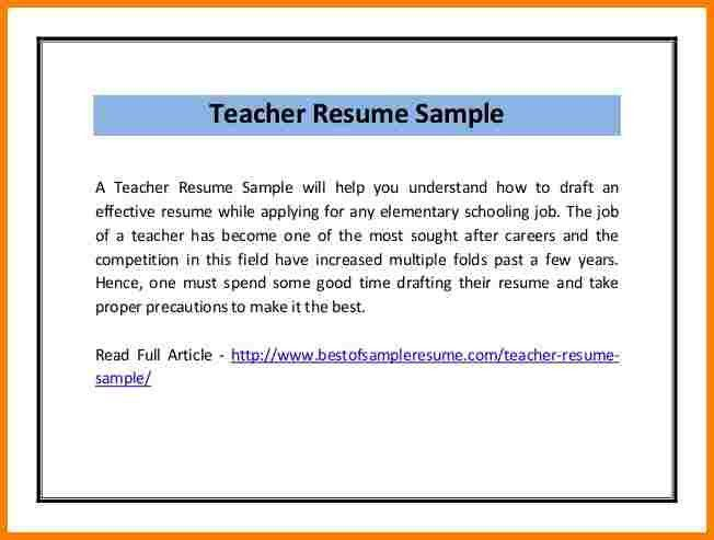teaching cv template job description teachers at school cv example ...