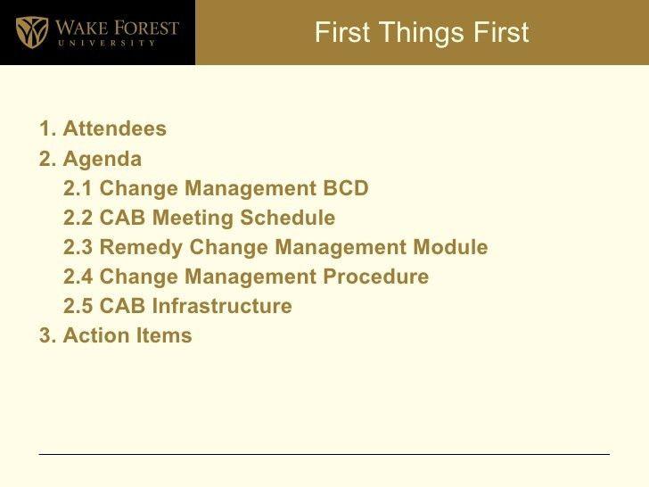 Creating A Change Advisory Board