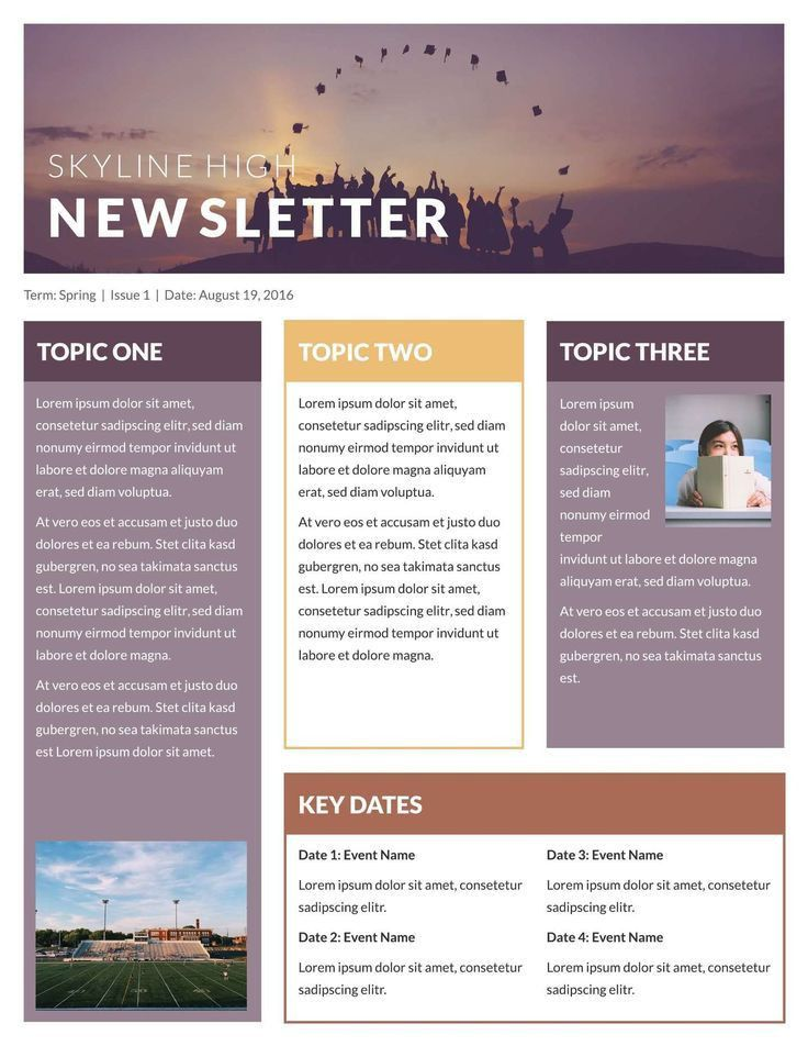 Example Of Newsletter Templates, best 10+ kindergarten newsletter ...