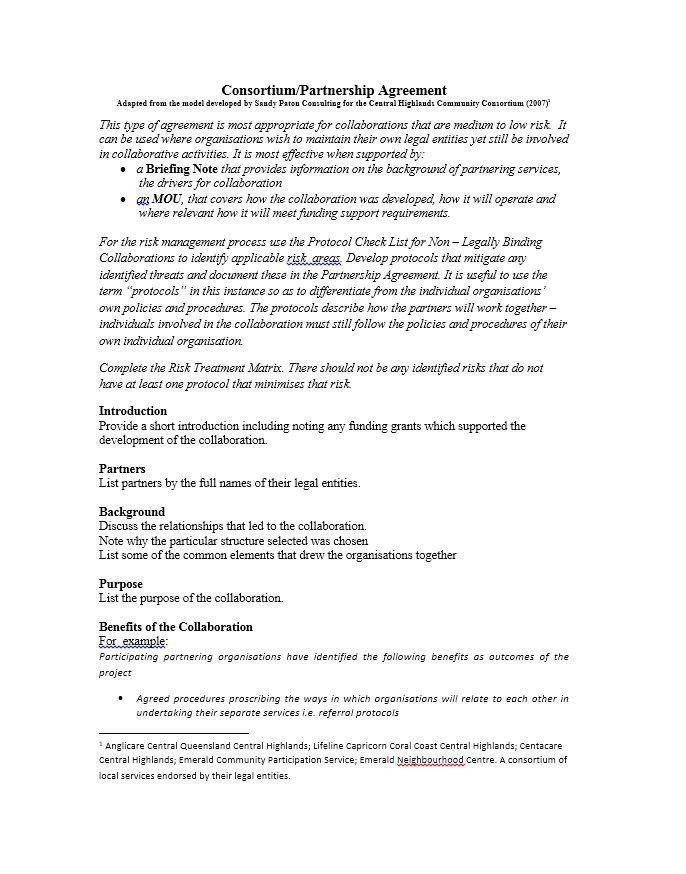 Business Partner Contract Template - Corpedo.com