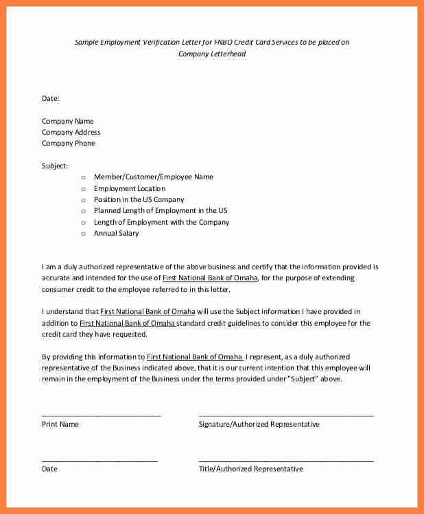 Letter Of Employment Verification. Sample Of Employment ...