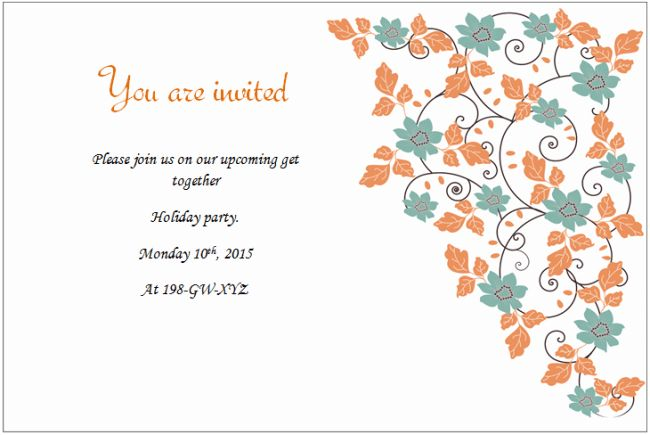 Holiday Invitation Templates - Templates for Microsoft® Word