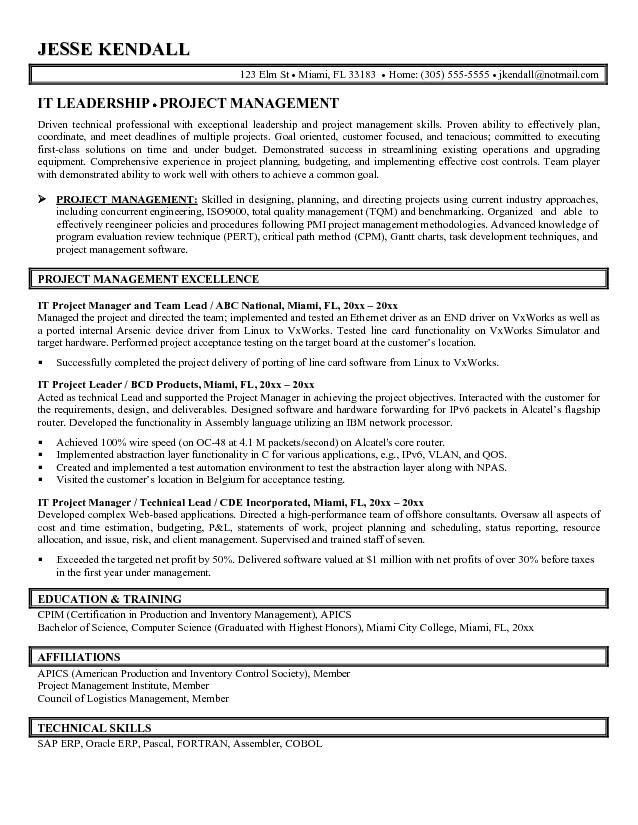 cover letter construction and project management specialist resume ...