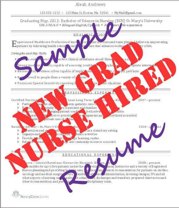 New Grad Nurse Resume - Student Nurse JourneyStudent Nurse Journey