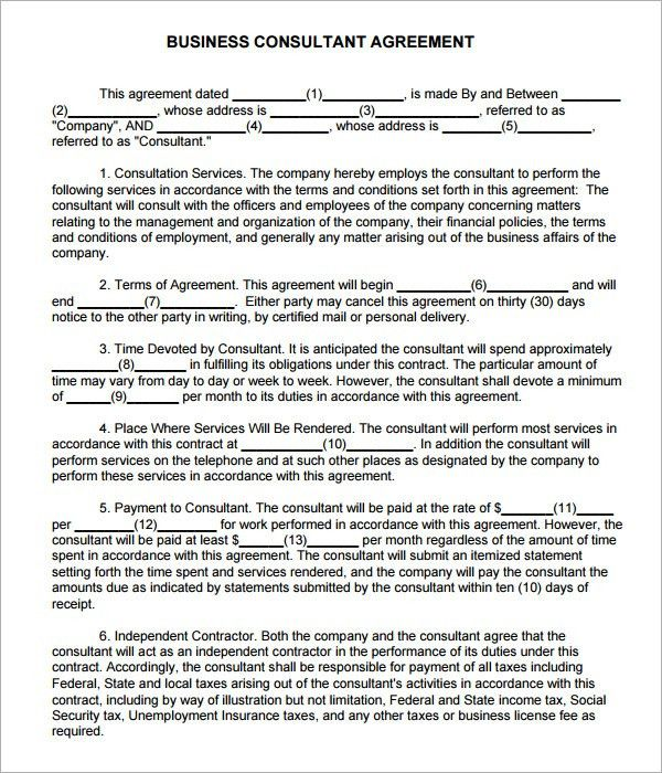 Consulting Agreement - 5+ Free Pdf , Doc Download