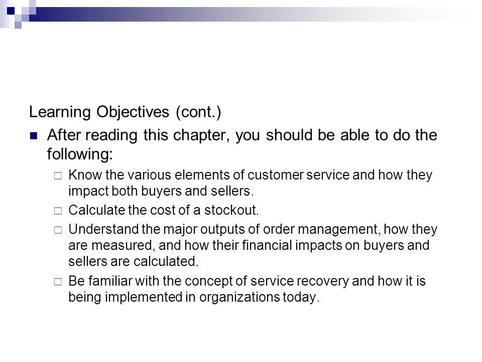 Chapter 8 Order Management and Customer Service - ppt download