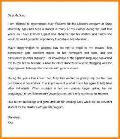 8+ recommendation letter for graduate students samples | quote ...