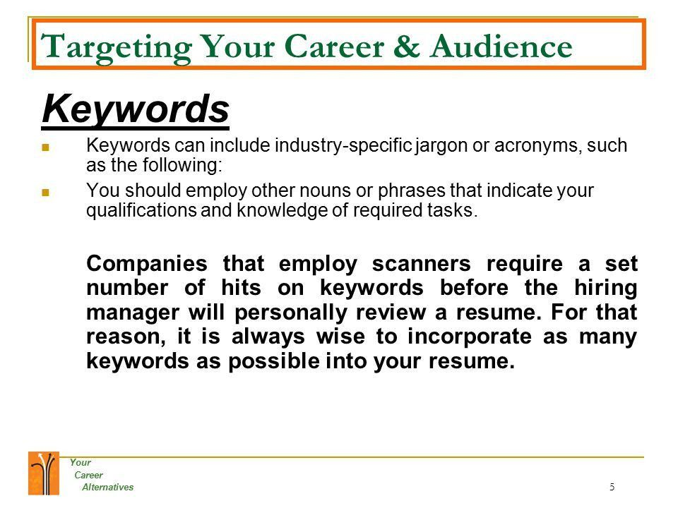 Your Career Alternatives 1 Your Career Alternatives Welcome to The ...