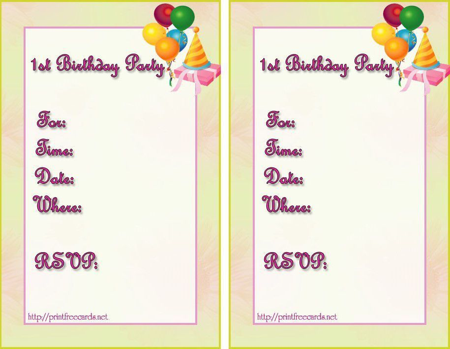 Birthday Invitation Maker | Birthday Party Invitations