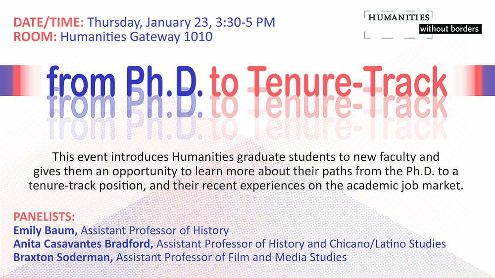 Part I: PhD to Tenure Track Panel | This dissertation is going to ...