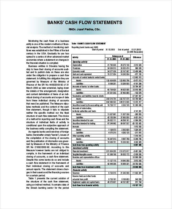 Cash Flow Statement - Free PDF, Word Documents Download | Free ...