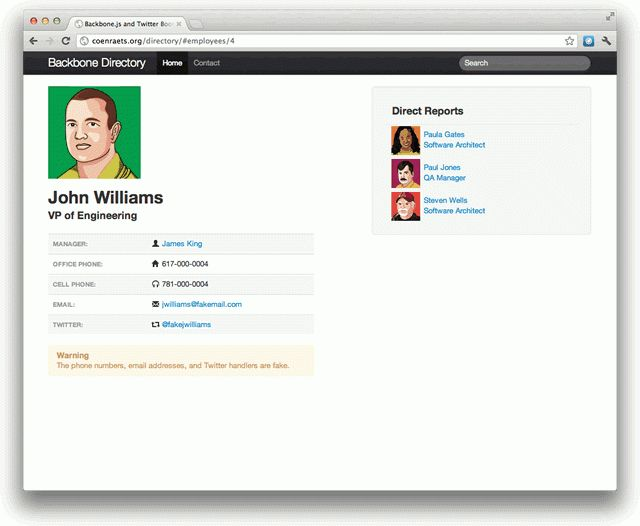 Sample App with Backbone.js and Twitter Bootstrap | Christophe ...