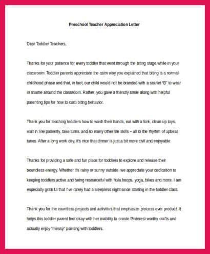 teacher appreciation letter   sop examples