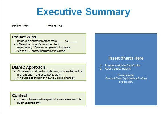 Sample Project Summary Template. Sample Budget Summary Template In ...