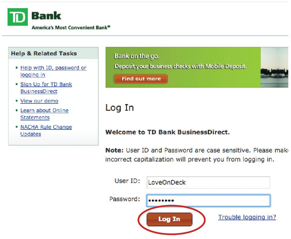 TD Bank Statement Download Instructions - OnDeck