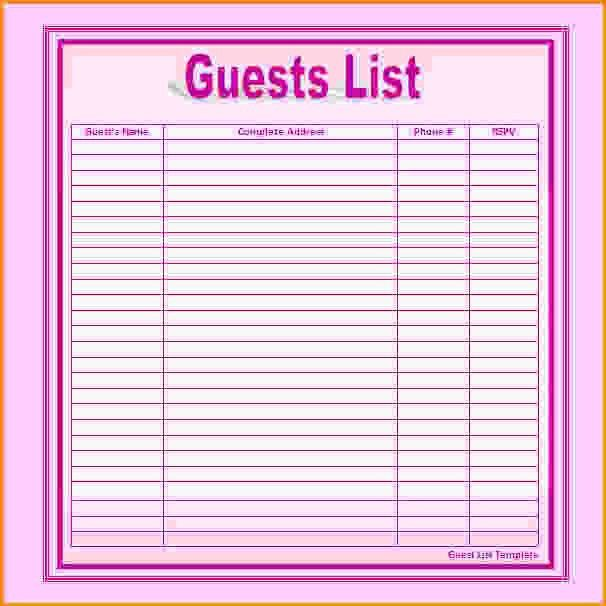 Wedding List Template.Wedding Vendor Contact List Template.jpg ...