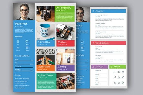 15 Material Design Resume Templates for the Perfect First ...